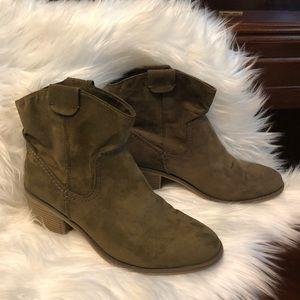 Merona Khaki Western Booties